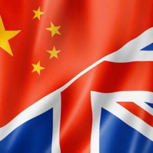 Chinese flag and Union flag composite