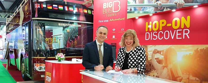 Big Bus Tours signs corporate partnership agreement with UKinbound