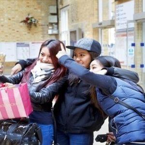Chinese visitors at York Station
