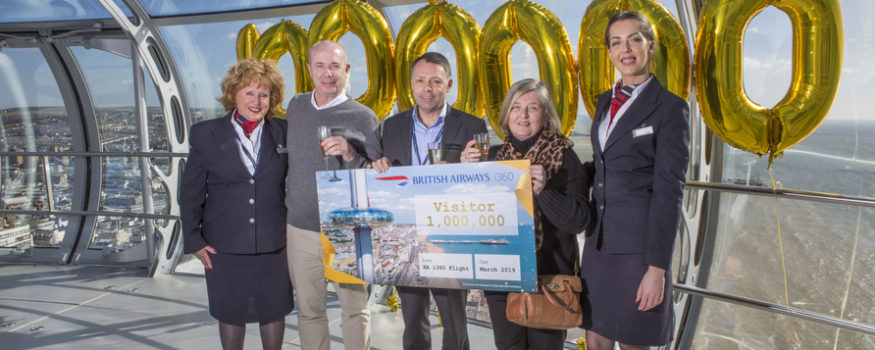 British Airways i360 welcomes one millionth visitor