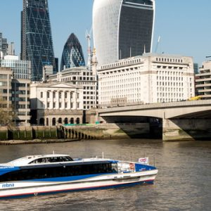 MBNA Thames Clippers zero emission ferry