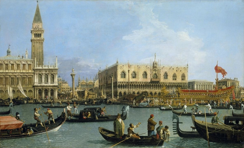 Canaletto The Bacino di San Marco on Ascension Day