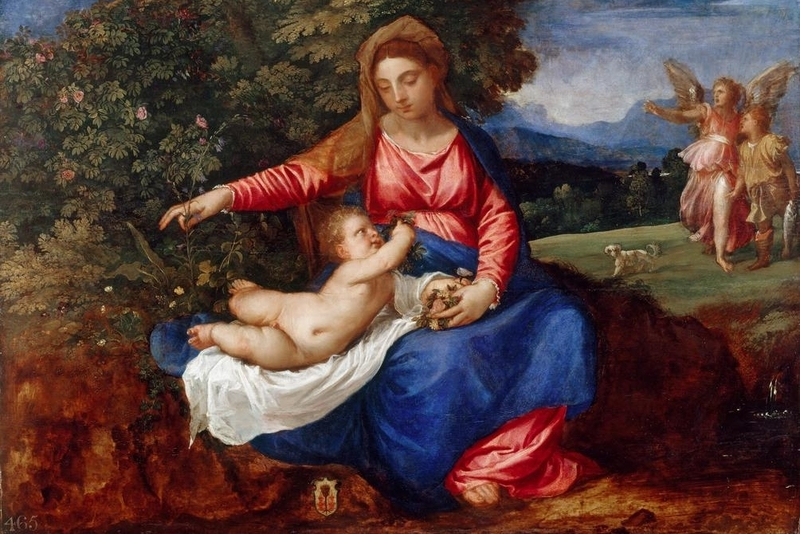 Madonna and Child with Tobias and the Angel, Titian