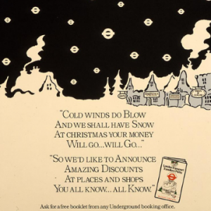 1980s poster 'Cold Winds Do Blow' by Brian Grimwood