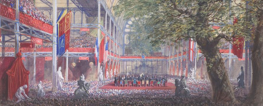 Joseph Nash, Prince Albert's closing address at the Great Exhibition, 15 October 1851, 1852