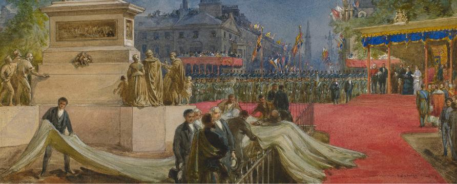 William Simpson, Queen Victoria at the unveiling of the statue of Prince Albert in Edinburgh, 1876