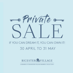 Bicester Village Private Sale