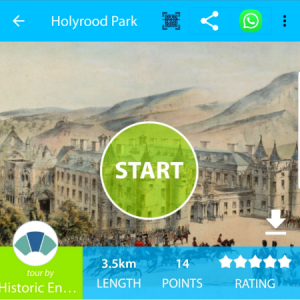Geotourist & Historic Environment Scotland launched Holyrood Park audio trail