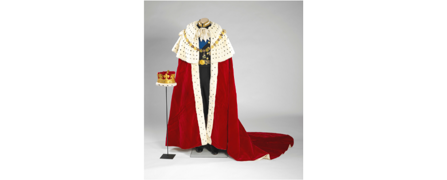 The Coronation Robe and Coronet worn by Prince Philip