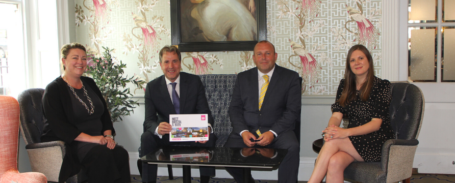 Image Credit left to right: Kathryn Davis, Director of Tourism, Visit West; Dan Norris, Metro Mayor, West of England Combined Authority; Steven Quick, General Manager, The Francis Hotel, Bath; Amy Bramhall, Convention Bureau Manager, Meet Bristol & Bath