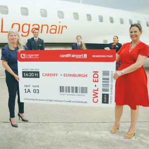 Loganair launches new direct link to capital cities of Scotland and Wales